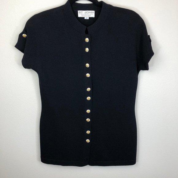 St. John Collection Short Sleeve Knit Jacket